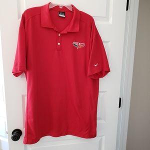 Nike DRI-FIT 3XL red golf shirt